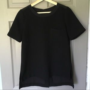 Madewell Black Button Back Top XS